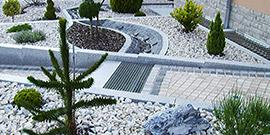 Teichanlage mit Springbrunnen